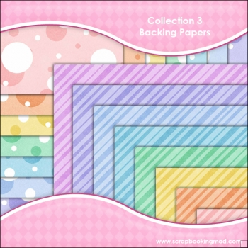 Collection 3 - 16 backing paper Download