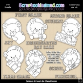 Oval Bears Pre School Colour Your Own ClipArt RESALE SET