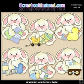 Baby Roscoe ClipArt Graphic Collection
