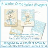 16 Winter Cocoa Packet Wrappers