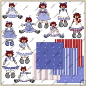 Raggedy Ann ClipArt Graphic Collection 2