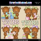 Baxter and Bailey Twins ClipArt Graphic Collection
