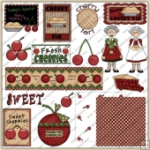Cherry Tart ClipArt Graphic Collection