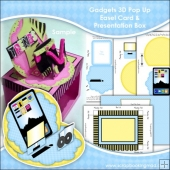 Gadgets 3D Pop Up Easel Card & Presentation Box