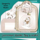 Snowman Bauble Large Tag Shaped Cardkit