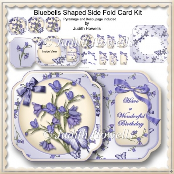 Bluebells Shaped Side Fold Card Kit