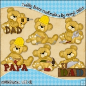 Cuddly Bears Construction ClipArt Graphic Collection