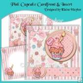Pink Cupcake Cardfront & Insert