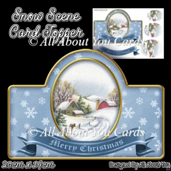 Snow Scene Card Topper
