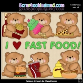 Booboo Bears Fast Food ClipArt Collection