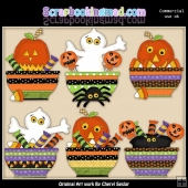 Halloween Bowls ClipArt Collection