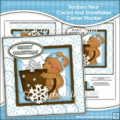 Booboo Bear Cocoa And Snowflakes Corner Stacker