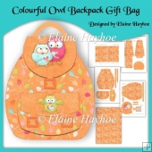 Colourful Owl Backpack Gift Bag