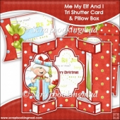 Me My Elf and I Tri Shutter Card With Matching Pillow Box