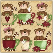 Christmas Bear Cups Graphic Collection - SPECIAL EDITION