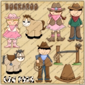 Buckaroo Cowpoke ClipArt Graphic Collection