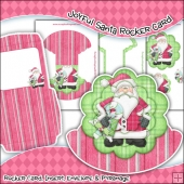 Joyful Santa Rocker Card Download