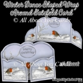 Winter Dance Shaped Wrap Around Gatefold Card