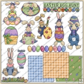 Easter Set 3 ClipArt Graphic Collection