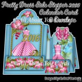 Pretty Dress Side Stepper 2016 Calendar Card & Envelope
