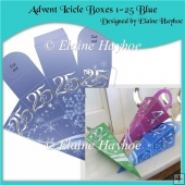 Advent Icicle Boxes 1 - 25 Blue