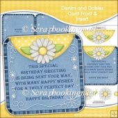Denim and Daisies Card Front and Insert