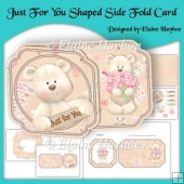 Just For You Shaped Side Fold Card