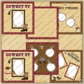 Little Buckaroos Scrapbook Pages - REF - CS