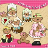 Bumpkin Bears ClipArt Graphic Collection