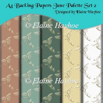 A4 Backing Papers June Palette Set 2