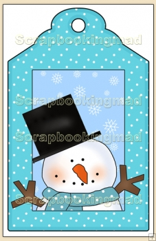 Cool Dude Christmas Gift Tag - REF_T635