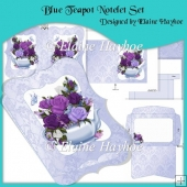 Blue Teapot Notelet Set