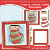 Ho Ho Ho Christmas Stocking Decoupage Download