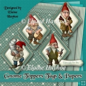 Gnome Toppers Tags and Papers