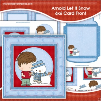 Arnold Let It Snow 6x6 Card Front