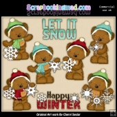 Tibble Loves The Snow ClipArt Collection