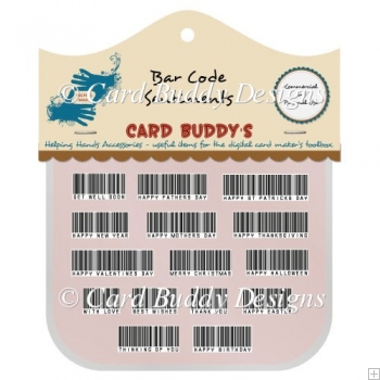 Bar Code Sentiments Pack - CU/PU