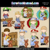 Timmy And Ted Love Tools ClipArt Collection