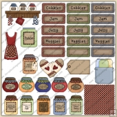 Jam Jelly Cobbler Veggies ClipArt Graphic Collection