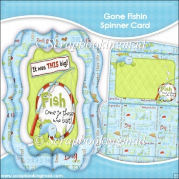 Gone Fishin Spinner Card & Envelope