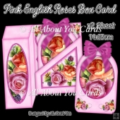 Pink English Roses Gift Box Card