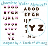 Chocolate Wafer Alphabets