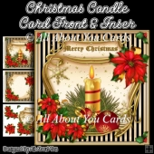 Christmas Candle Card Front & Insert