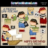 Pirate Birthday ClipArt Collection