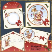 Christmas Birdhouse Bear Card Kit and Pillow Box