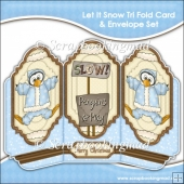Let It Snow Tri Fold Card & Envelope Set