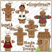 Gingerbread Man ClipArt Graphic Collection