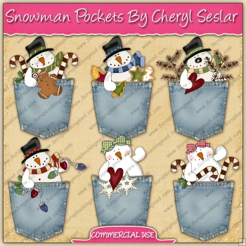 Snowman Pockets Graphic Collection - REF - CS