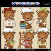 Baxter and Bailey In The Kitchen ClipArt Graphic Collection