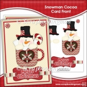 Snowman Cocoa Card Front